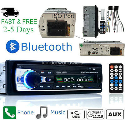 Car Stereo Radio Bluetooth In-dash Head Unit Player FM MP3USBSDAUX for iPod