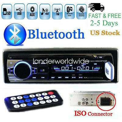 12V FM Car Stereo Radio Bluetooth 1 DIN In Dash Handsfree SDUSB AUX Head Unit
