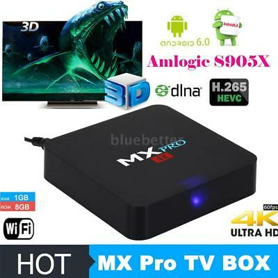 4K Amlogic S905X 2-0GHz Quad Core 64Bit Android 6-0 Smart TV Box WIFI DLNA Media