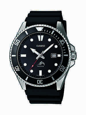 Casio Mens MDV106-1A Rotating Bezel Black Resin Band Diving Watch