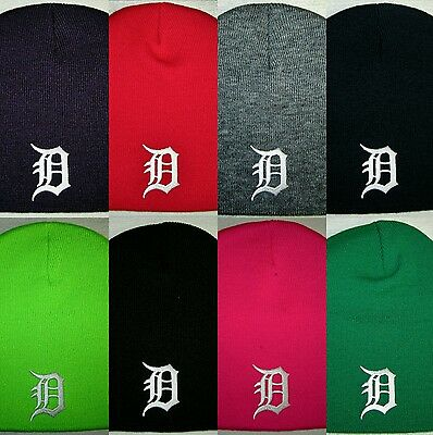 Detroit Tigers Beanie SKULL CAP HAT CLASSIC MLB PATCHLOGO 8 Colors NEW