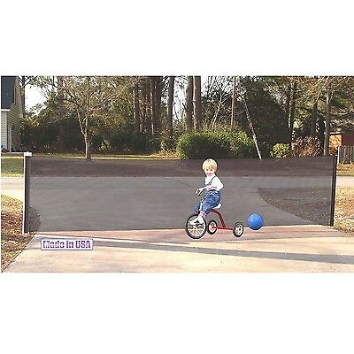Kid Kusion Retractable Driveway Guard 18 feet Safety Net In Black 4730 New