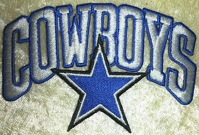 Dallas Cowboys  3-5 Die Cut Iron On Embroidered Patch US SellerFREE Ship