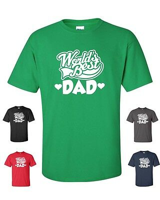 Worlds Best Dad Happy Fathers Day Holiday Pride Daddy Mens T-shirt