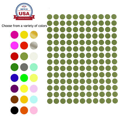Color Coded Stickers 38 Labels Round Small Dots 0-375 Inch Circle 10mm 700 PACK