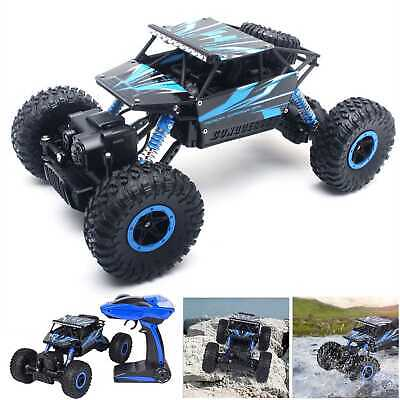 4WD RC Monster Truck Off-Road Vehicle 2-4G Remote Control Buggy Crawler Car Blue