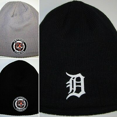 Detroit Tigers New Era Fleece Lined Beanie Knit Cap Classic MLB PatchLogoNEW