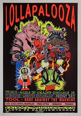 LOLLAPALOOZA MUSIC FESTIVAL 1993 Poster Concert Lineup Multiple Sizes