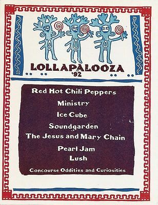 LOLLAPALOOZA MUSIC FESTIVAL 1992 Poster Concert Lineup Multiple Sizes