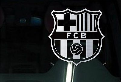 2 UNITS FC Barcelona CHROME  Vinyl DECAL Car Truck Window STICKER Futbol Soccer