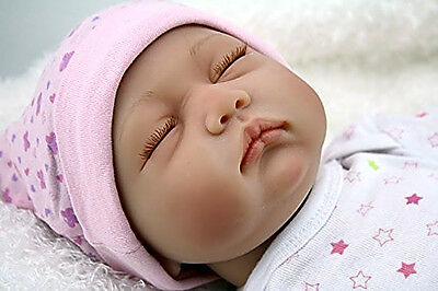 Silicone Reborn Baby Doll Hard 22 inch Girl Soft vinyl Newborn Babies Full NEW