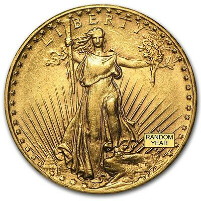 SPECIAL PRICE 20 Saint-Gaudens Gold Double Eagle AU Coin - Random Year