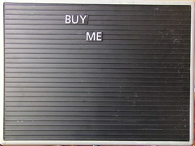 24L X 17 12W-Message Board with White Letters and Metal Stand