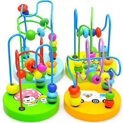 Educational Wooden Around Beads Toddler Infant Intelligence Toy Gift for Kids