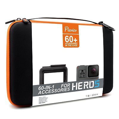 Pieviev Accessories Case Kit for GoPro HERO5 Frame Black 50- Items Included NEW