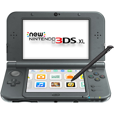 New Nintendo 3DS XL New Black - FACTORY REFURBISHED BY NINTENDO
