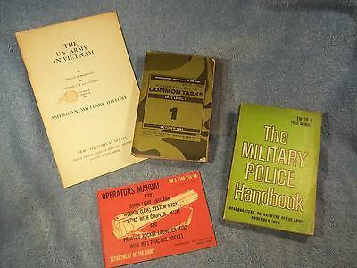 Lot of vintage Military Manuals -  MP - Common Tasks X4