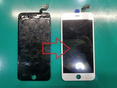 Service For iPhone 6 Plus LCD Cracked Broken Lens Glass Screen Refurbish Repair