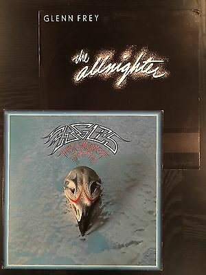 2 LP Lot- Eagles Their Greatest Hits Glen Frey The Allnighter Records