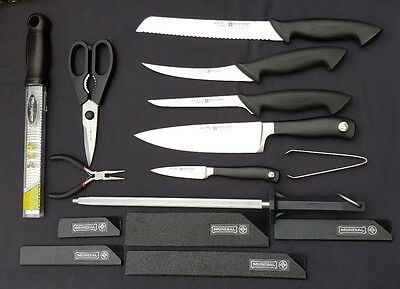 WUSTHOF KNIFE SET of 5 Knives 4 NEW 1 LIGHTLY USED with Chefpak case - Extras