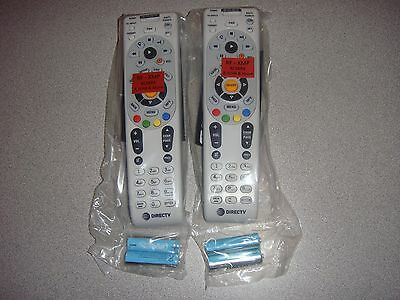 DIRECTV RC66RX LOT 2 IRRF TWO NEW REMOTE CONTROL FREE BATTERIES WITH ATT LOGO