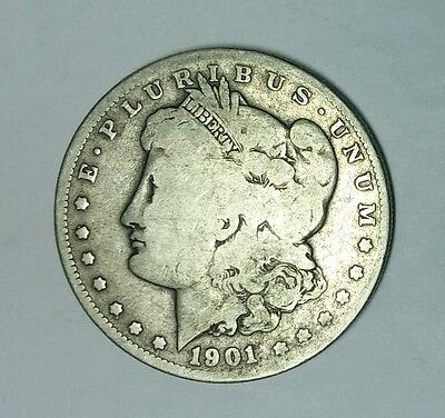 1901-S MORGAN SILVER DOLLAR ONLY 2284000 MINTED S5