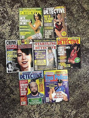 Lot of 7 Detective and Crime Magazines from the 1990s