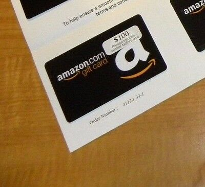 Amazon Gift Card 500 Unused - Physical Delivery Guaranteed