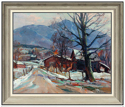 Emile Gruppe Original Oil Painting On Canvas Signed Landscape New England Art