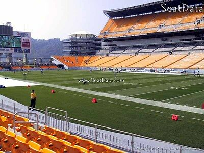 2 Steelers vs Ravens Tickets Lower Level Sidelines 5th Row