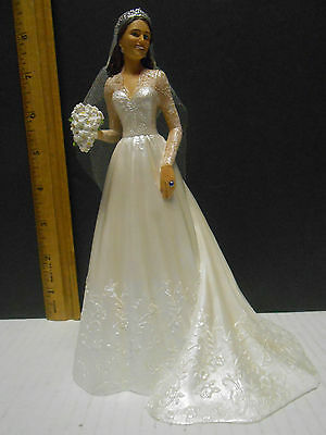 Catherine Royal Bride Figurine Kate Middleton  Royal Wedding - 7 14 Hamilton