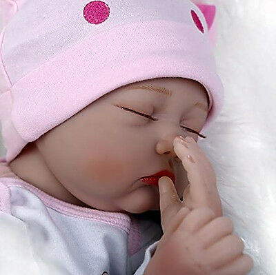Silicone Reborn Baby Doll Soft Lifelike Realistic Sleeping Girl Doll Full Body