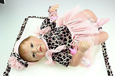 Real Doll Girl Silicone Baby Reborn Cloth Vinyl Newborn Realistic Lifelike Full