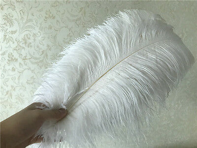 wholesale 10-100pcs beautiful white ostrich feathers 6-30inch  15-75cm
