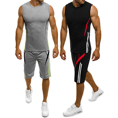 OZONEE RED FIREBALL 8353 Herren Sportanzug Trainingsanzug Shirt Kurzhose Fitness