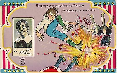 Fourth Of July Boy With Exploding Firecracker sk4741