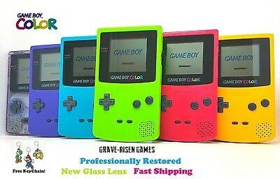 RESTORED ORIGINAL NINTENDO GAME BOY COLOR CGB-001 HANDHELD NEW GLASS LENS