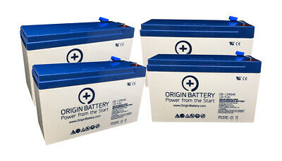 CyberPower RB1270X4C Battery Replacement - 4 Pack 12V 9AH High-Rate Discharge