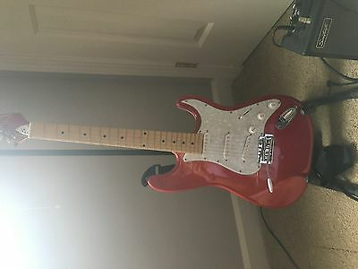Sawtooth Electric Guitar-Flame Red-With AMP