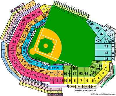 4 Boston Red Sox BL39 tickets vs Cleveland 731