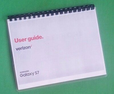 Samsung Galaxy S7 For Verizon 198 Page Owners Manual Laser 8-5X11