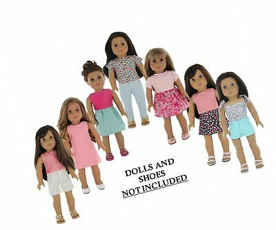 American Girl Doll Clothes Wardrobe Makeover- 7 Complete Outfits Fits 18 Dol-