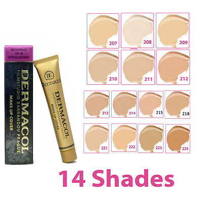 DERMACOL High Cover Makeup Foundation Hypoallergenic Waterproof SPF-30 US Seller