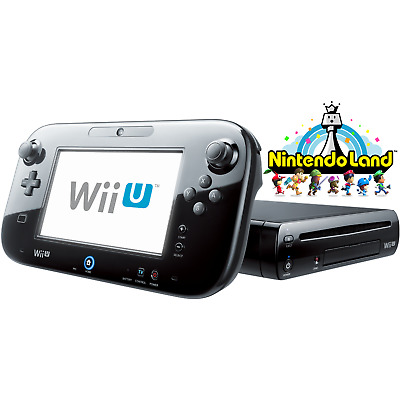 Black Wii U 32GB Deluxe - Nintendo Land - FACTORY REFURBISHED BY NINTENDO