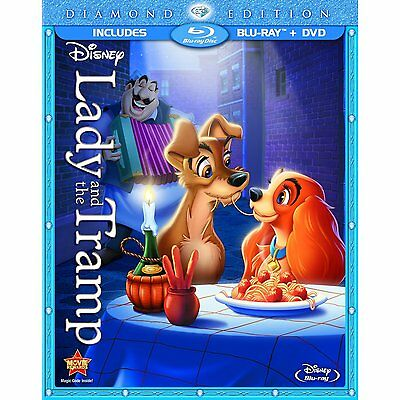 Lady and the Tramp Blu-rayDVD 2012 2-Disc Set Diamond EditionNEW SEALED