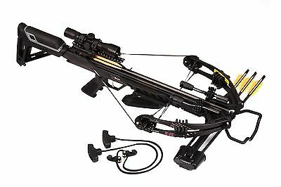 Bruin Ambush 345 Crossbow Package w Scope Bolts Quiver and Cocking Rope