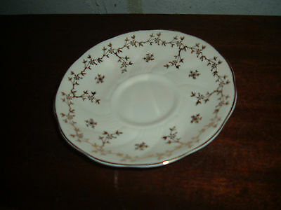 Royal Grafton Fine Bone China White With Gold Saucer