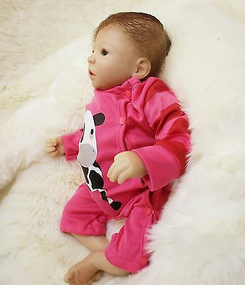 silicone reborn baby doll 18 dolls Babies Real soft vinyl clothes Girl Full