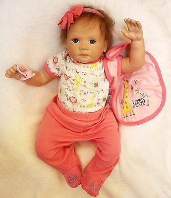 Silicone Realistic Reborn Baby Doll 20 Lifelike Full Handmade Body clothed NEW