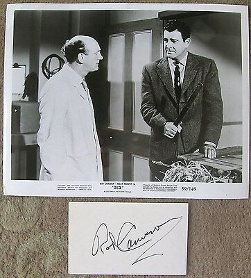 ROD CAMERON THE ELECTRONIC MONSTER AUTOGRAPH WITH VINTAGE MOVIE STILL